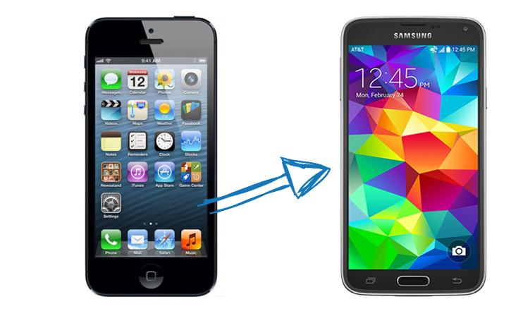 telefoon overzetten samsung naar iphone